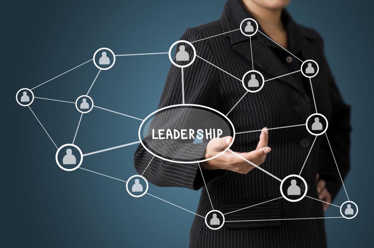 Business,Woman,Present,Leadership,Connection,Diagram,Concept